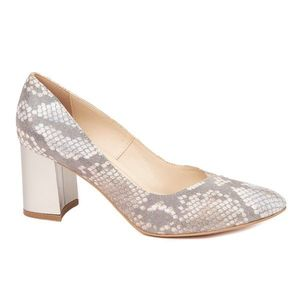 Pantofi dama toc gros din piele naturala cu model 4597 imagine