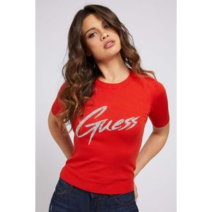 Guess roșii tricou Triangle Logo - M imagine