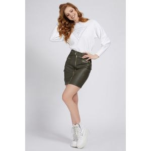 Guess albe pulover Front Logo Comfort Fit - L imagine