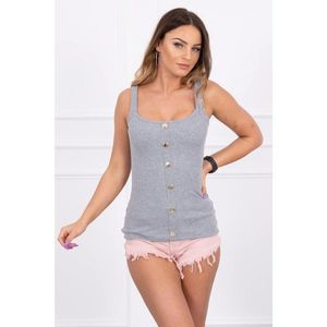 Blouse with straps gray imagine