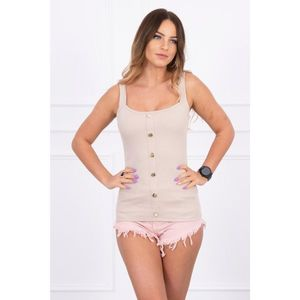Blouse with straps beige imagine