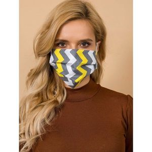 Protective mask, cotton white and gray imagine