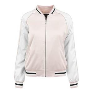 Urban Classics Geacă de primăvară-toamnă roz / negru / alb imagine