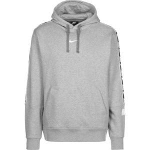 Nike Sportswear Bluză de molton alb / gri amestecat / negru imagine