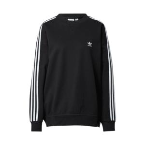 ADIDAS ORIGINALS Bluză de molton negru / alb imagine