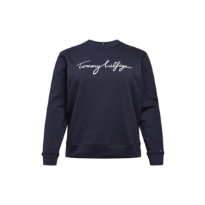 Tommy Hilfiger Curve Bluză de molton albastru închis / alb imagine