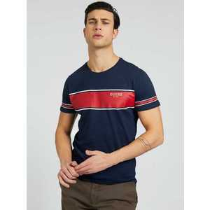 GUESS Tricou navy / roșu carmin / alb imagine