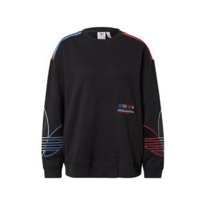 ADIDAS ORIGINALS Bluză de molton negru / roșu / alb / albastru imagine