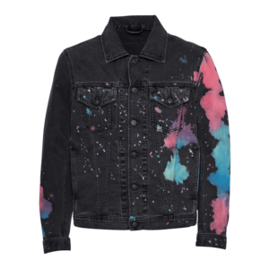 DIESEL Geacă de primăvară-toamnă negru / culori mixte / albastru / roz imagine