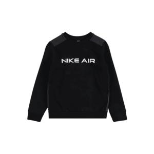 Nike Sportswear Bluză de molton alb / negru / gri închis imagine