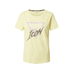 GUESS Tricou galben pastel / mov / alb imagine