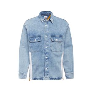 Tommy Jeans Geacă de primăvară-toamnă denim albastru / alb / portocaliu imagine
