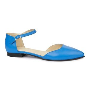 Sandale dama din piele naturala cu toc mic 5395 imagine