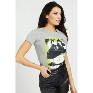 Guess gri tricou Placed Print - M imagine