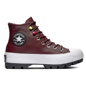 Converse visinii/bordo din piele adidașii cu platformă Chuck Taylor All Star Lugged Winter - 37, 5 imagine
