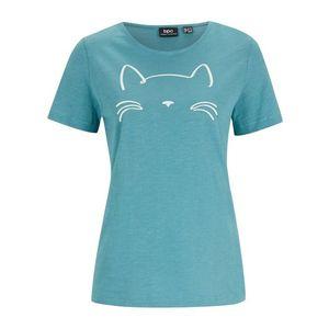 Bluză cu mânecă scurtă și imprimeu pisică imagine