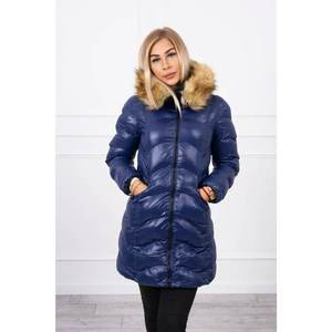Quilted jacket navy blue imagine