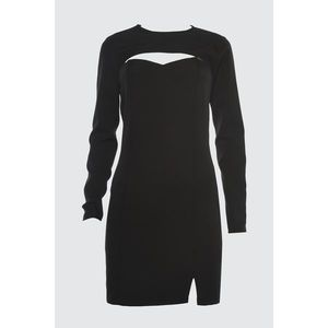 Trendyol Black Bolero Collar Dress imagine