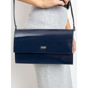 Navy lacquered clutch bag imagine