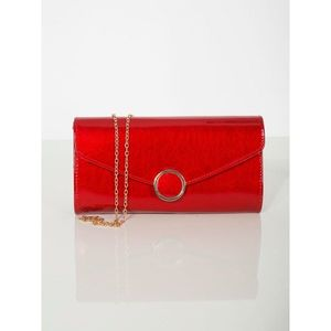 Lacquered red clutch bag imagine