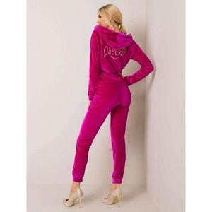 Fuchsia velor set imagine