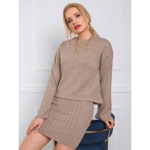 Beige knitted set imagine