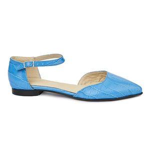Sandale dama din piele naturala cu toc mic 5396 imagine