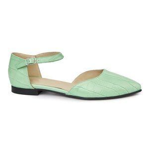 Sandale dama din piele naturala cu toc mic 5399 imagine