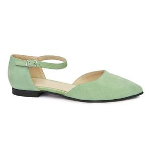 Sandale dama din piele naturala cu toc mic 5401 imagine