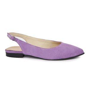 Sandale dama din piele naturala cu toc mic 5403 imagine