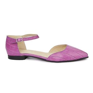 Sandale dama din piele naturala cu toc mic 5405 imagine