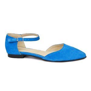 Sandale dama din piele naturala cu toc mic 5397 imagine