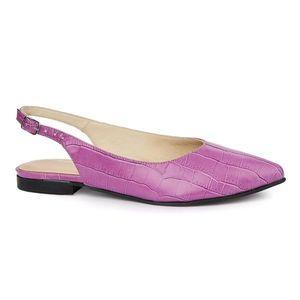 Sandale dama din piele naturala cu toc mic 5404 imagine