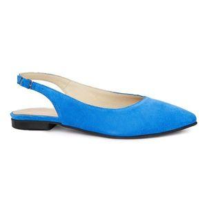 Sandale dama din piele naturala cu toc mic 5398 imagine