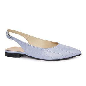 Sandale dama din piele naturala cu toc mic 5408 imagine