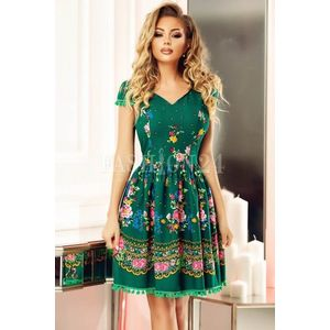 Rochie verde traditional in clos imagine