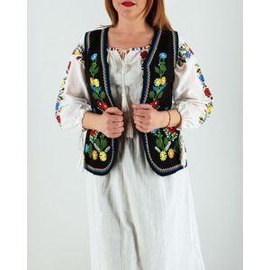 Vesta brodata cu model traditional Doina imagine