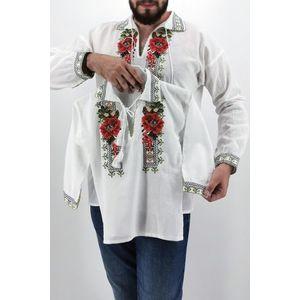Set Traditional - Camasa Tata Camasa fiu Trandafir imagine