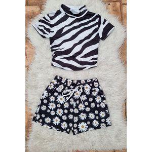 Set dama Top Zebra si pantalon Margaret imagine