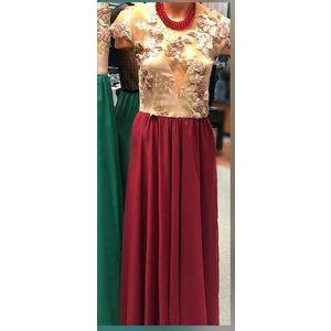 Rochie lunga din voal Flavia Bordo imagine