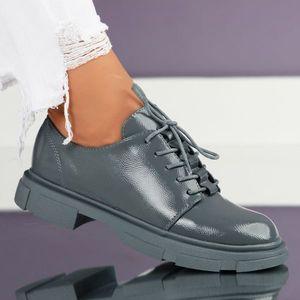 Pantofi Casual Dama Samay Albastri #7033M imagine