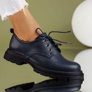 Pantofi Casual Dama Elah Albastri #7197M imagine