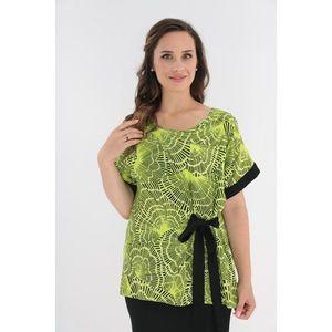Bluza lejera verde deschis cu print abstract imagine