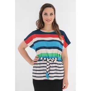 Bluza lejera cu dungi multicolore imagine