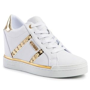 Sneakers GUESS - Fayne FL5FAY ELE12 WHITE/GOLD imagine