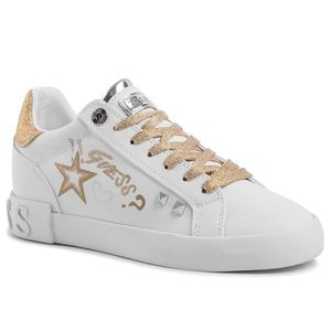 Sneakers GUESS - Pryde FL5PRY ELE12 WHITE/GOLD imagine