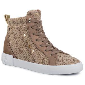 Sneakers GUESS - Portly FL5PR2 FAL12 BEIGE/BROWN imagine