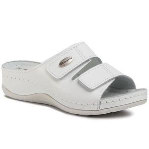 Șlapi TAMARIS - 1-27510-24 White Leather 117 imagine