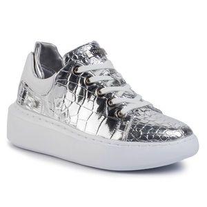 Sneakers GUESS - Braylin FL5BRA PEL12 SILVER imagine
