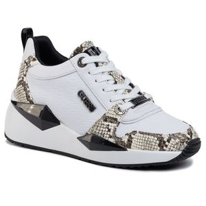Sneakers GUESS - Tallya FL5TLY FAL12 WHITE/BLACK imagine